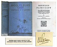 Rare Signed Copy of Captain W.E. Johns' ''Biggles Flies East''
