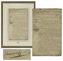 Napoleon Bonaparte Document Signed