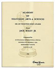 Emmy Award Nomination for a Liza Minnelli Television Special -- Awarded to Minnelli's Ex-husband Jack Haley, Jr. in 1987