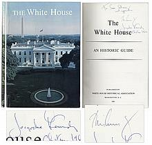 John F. Kennedy Signed Copy of ''The White House'' as President -- Also Signed by Jacqueline Kennedy