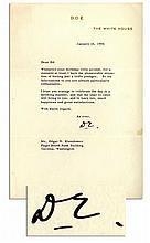 Playful Dwight Eisenhower Typed Letter Signed as President -- ''...Whenever your birthday rolls around...I have the pleasurable sensation of feeling just a trifle younger...'' -- 1956