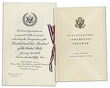 Dwight D. Eisenhower & Richard Nixon Presidential Inauguration Invitation and Program