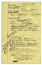 Richard Nixon 1958 Handwritten Notes to His Biographer -- Discusses His Views on Foreign Policy -- ''...The people don't want to be on our side to fight Communism...''