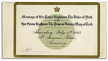 King George V Wedding Invitation