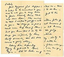 Eisenhower WWII Autograph Letter Signed From Operation Torch Headquarters in Subterranean Gibraltar -- ''...the days go so fast I can't even keep track of them! I'm always on the jump...''