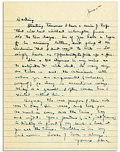 Eisenhower WWII Autograph Letter Signed -- ''...I have a series of trips that will last without interruption from six to ten days...as to subjects to write about. So many things are taboo...''