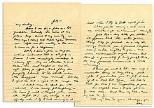 Dwight Eisenhower WWII Autograph Letter Signed One Month After D-Day -- ''...I'm a flea on a hot griddle...how promptly I duck to the shelter when the 'Buggers' come around!...''
