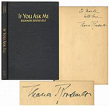 Eleanor Roosevelt Signed Copy of ''If You Ask Me'' -- Rare Title Signed by the First Lady
