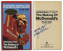 Fast Food Visionary Ray Kroc Signed Copy of ''Grinding It Out: The Making of McDonald's''