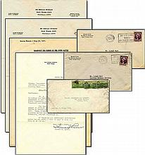 Lot of Business Letters Related to James Roosevelt, Son of Franklin and Eleanor Roosevelt