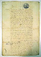 Antique Ephemera 1864 CUBAN SLAVE MANUMISSION DOCUMENT History  Cuba Negro Slavery Freedom