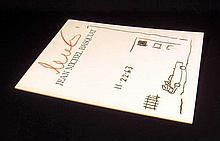 SIGNED BASQUIAT CATALOGUE WITH ORIGINAL DRAWING 1988 Kennedy Assassination Akira Ikeda Gallery Exhibition