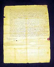 Antique 17th Century PLYMOUTH BAY COLONY DEED OF SALE 1693 Legal Document Duxbury Massachusetts Property John Soul Nathaniel Southworth Colonial America Genealogy