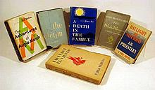 6V Vintage 20th C. LITERATURE Saul Bellow James Agee James Branch Cabell J.B. Priestley First Edition Novels Pablo Neruda Poetry Chilean