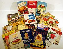 50V Antique & Vintage PRODUCT PREMIUM COOKBOOKS Kitchen Food Promotional Advertising Booklets Appliances Pillsbury Jello Karo Knox Hood Baking