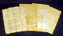 4 Pc. Antique Ephemera PLYMOUTH BAY COLONY DOCUMENTS 1734-1769 Plimpton Bridgewater MA Churchill Family Jonathan Zadoch Noah Ichabod Bosworth 18th Century Colonial America Genealogy