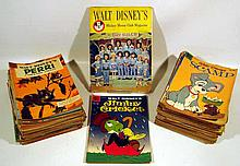 90V Vintage COLLECTIBLE EPHEMERA Walt Disney Mickey Mouse Club Characters Dell Comic Books First Issue MMC Magazine Donald Duck Chip & Dale Peter Pan Jiminy Cricket Scamp Walter Lantz Woody Woodpecker
