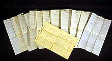12 Pc. Antique 19th Century ASA MILLETT PROPERTY DEEDS 1850-6 East Bridgewater MA Plymouth County Colony Genealogy