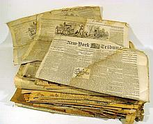 Antique & Vintage NEWSPAPERS Civil War New-York Tribune The Liberator Abolitionism Anti-Slavery Philadelphia Times 1880s Johnstown Flood Chester County PA Local News Pittsburgh Little Rock AR Montana