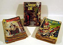 100V Vintage Collectible Silver Age 1960s COMIC BOOKS Superman Wonder Woman DC Green Lantern ACG Herbie CDC Dell Gold Key Turok Son of Stone Twilight zone Raven Vincent Price Weird Stories