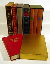 8V Vintage Deluxe ADVENTURE & MYSTERY Limited Editions Club Ben-Hur The Moonstone The Woman in White Anthony Adverse The Prisoner of Zenda Marguerite de Valois