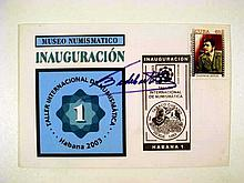 Collectible Philately Ernesto CHE GUEVARA FIRST DAY COVER Fidel Castro Signature Autograph Postal FDC Cuba Communist Guerrilla Revolutionary Postage Stamp Collecting