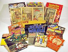 Vintage Ephemera 1950s-1970s POP CULTURE Star Wars Star Trek Planet of the Apes Benji Happy Days Scott Baio Honda Motorcycle General Electric Advertising Comic Books Posters Battleship Ahoy! Game  Fidel Castro Life Circus Programs
