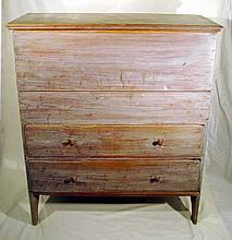 Antique Furniture 1860s PRIMITIVE BLANKET CHEST Cherry Dove-Tailed Joinery Chamfering