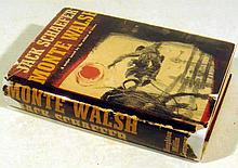 Jack Schaefer MONTE WALSH 1963 First Printing Western Novel Vintage American Literature Scarce Dust Jacket