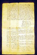 Antique 1701 PLIMOUTH BAY COLONY WARRANT Legal Notice Land Allocation Division Meeting Swansea Bristol County MA Colonial America Genealogy