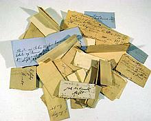 34 Pc. Antique Antebellum HANDWRITTEN RECEIPTS Major John Walker Pre-Civil War Genealogy History