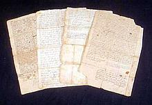4 Pc. Antique Ephemera NATHANIEL SOUTHWORTH DOCUMENTS 1709-1721 Plymouth Bay Colony County Middleborough MA Ichabod Edward Southworth Elkanah Leonard Isaac Howland John Robinson 18th Century Colonial America