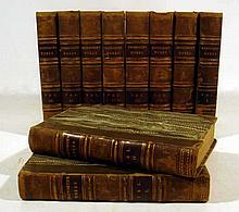 10V Maria Edgeworth TALES AND NOVELS 1832 Antique Irish Literature Early Children's Author Decorative Leather Binding