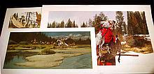 3 Pc. Like New WESTERN AMERICAN FINE ART PRINTS Limited Edition Lithographs Frontier West History Native Americans Indians Fur Trappers Frank C. McCarthy Brian Jarvi Paul Calle Wildlife Moose Hunters Wild Geese