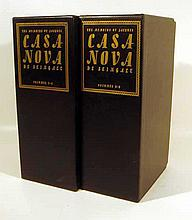 8V Vintage MEMOIRS OF JACQUES CASANOVA Limited Editions Club 1940 Erotic Picaresque Autobiography