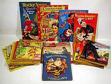 17V Vintage COLLECTIBLE EPHEMERA Baby Boomer Children's Coloring Books 1950s 1960s Mickey Mouse Western Cowboys Zorro Lone Ranger Captain Kangaroo Queen Elizabeth II Coronation Science Fiction Rocket Ships