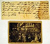 2 Pc. Antique Ephemera BLACK AMERICANA American History 1833 Slave Labor Contract 1910 Lynching Postcard Dallas TX White Supremacy Violence Racism Slavery