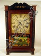 All Original SAMUEL TERRY TRANSITIONAL SHELF CLOCK Bristol CT Wooden Movement Weight Driven