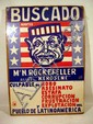 Juan Manuel Sanchez  SPANISH-LANGUAGE POLITICAL POSTER 1970 Nelson Rockefeller As