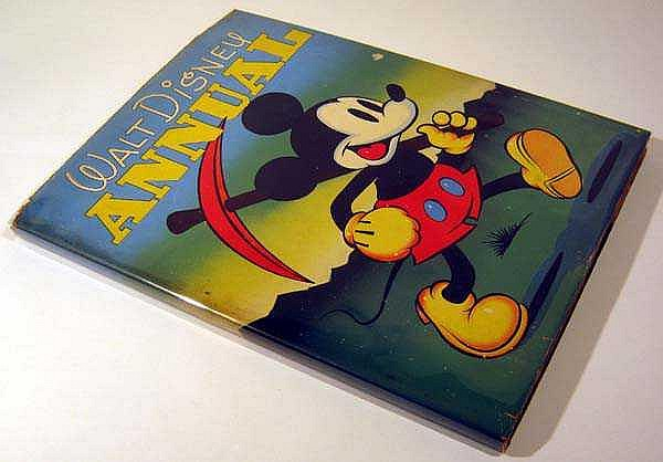 THE WALT DISNEY ANNUAL 1937 First Edition In Rare Dust Jacket Mickey Mouse