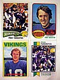 4 Pc. Vintage FRAN TARKENTON FOOTBALL CARDS Topps 1968 #161 1970 #80 New York Giants Quarterback