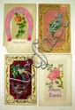 Real Photo SPECIAL ANTIQUE & VINTAGE POSTCARDS  Hand-Decorated Fabric Girlie Holiday