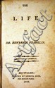 Benjamin Franklin THE LIFE OF DR. BENJAMIN FRANKLIN 1809  Memoir Early Autobiography American History Pennsylvania Independence