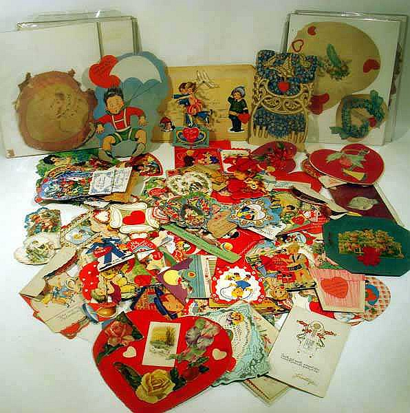 Vintage & Antique VALENTINES Victorian Fancy Die-Cut Stand-Up Honeycomb 20th C. Children's School Hand-Made