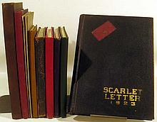 12V Yearbooks Chronicle ANTIQUE RUTGERS & KINGSLEY HISTORY Scarlet Letter New Jersey University Club Pennsylvania