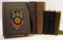 6V Johnstown Flood DECORATIVE ANTIQUE AMERICAN HISTORY Valley Of Death Revolutionary Civil War Era New York Gettysburg Paul Revere Folding Map Plates Illustrations