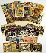 NOTGELD GERMAN EMERGENCY MONEY c1921 Antique Currency Local History Thuringia Saxony-Anhalt Eisenach Langensalza Friedrichsbrunn Jerichow