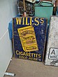 ENAMEL SIGN -WILLS GOLD FLAKE