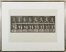 EADWEARD MUYBRIDGE (BRITISH 1830-1904). MAN RUNNING FROM