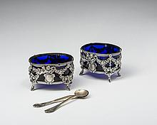 PAIR OF FRENCH SILVER SALTS, PAILLARD FRERES, PARIS, 1868-88.